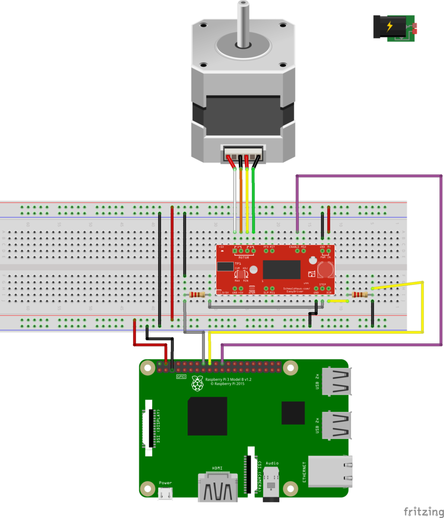 Control a steppermotor with Domoticz | Raspberry Pi Automation